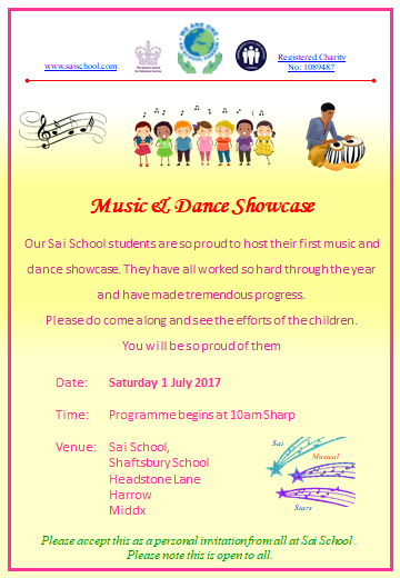 Sai School Music & Dance Showcase 2017